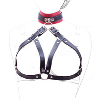 New Arrival Neck Collar Open Bra Nipple Bound Neck Ring Restraint Bondage Set PU Leather Adult Sex Toys Sexy Sex Products