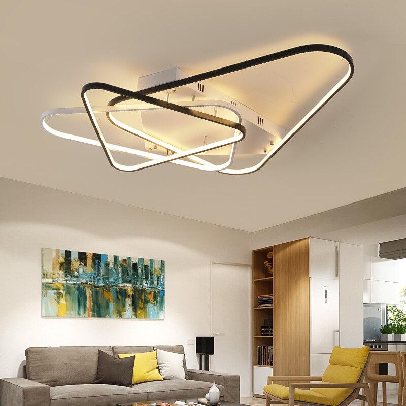 New Arrival Modern Led chandelier for living room bedroom study room home deco white black home