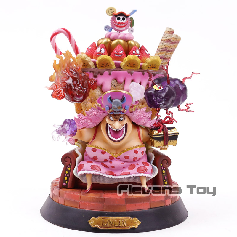 Anime One Piece BIG MOM Charlotte Linlin with Throne GK Action Figure Collectible Model ToyAnime One Piece BIG MOM Charlotte Linlin with Throne GK Action Figure Collectible Model Toy
