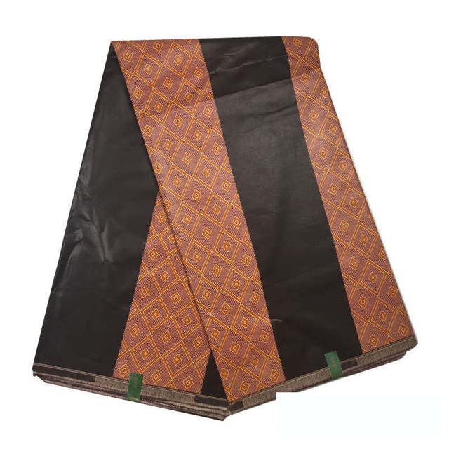 African Coffee Brown Color Java Print Wax Cotton Fabric Ankara