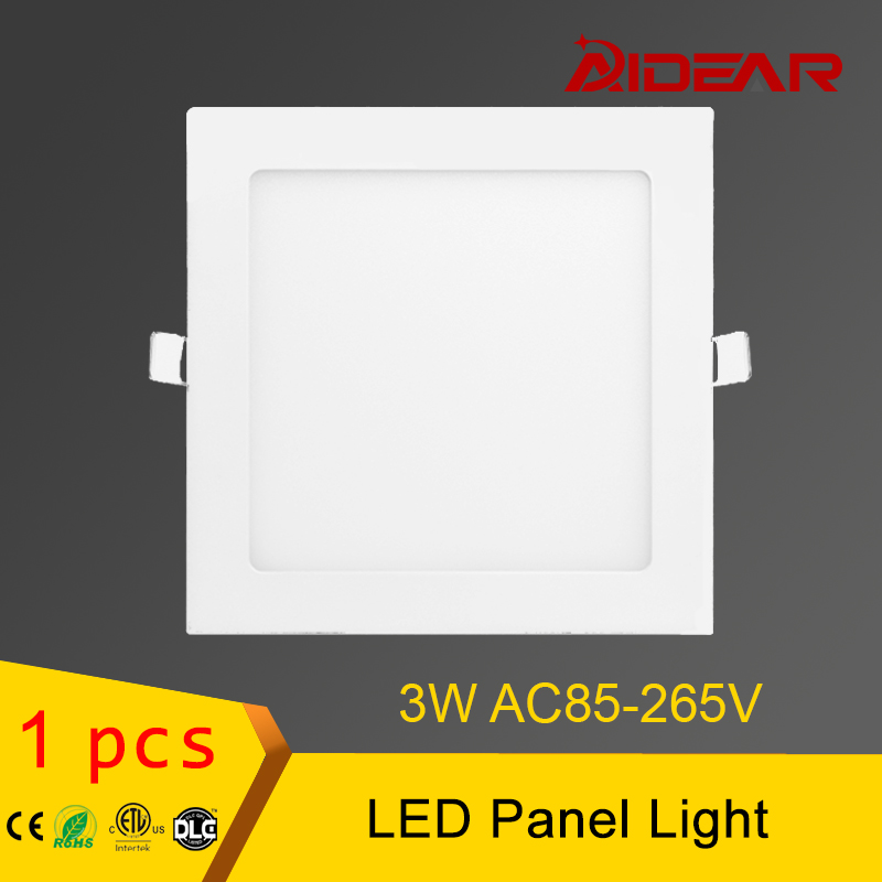 downlight thin 3W square led panel light 1pack free shipping AC85-265V warm white/cold white light CE,RoHS free shipping dimmable 48w 600x600mm led panel light high brightness led chips warm white natural white cold white available