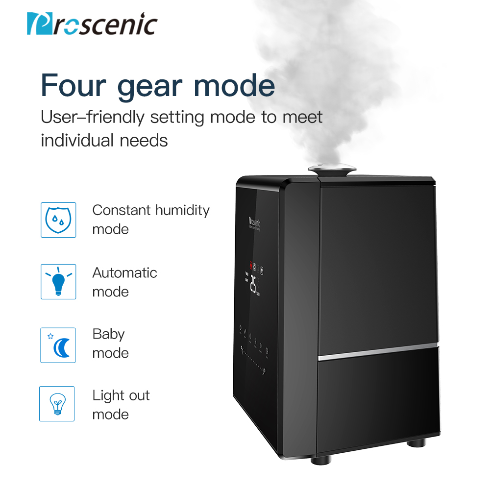Image 5 - Proscenic 807C 5.5L Warm and Cool Mist Ultrasonic Humidifiers for Bedroom and Babies, Vaporizer with APP and Aleax Control-in Humidifiers from Home Appliances