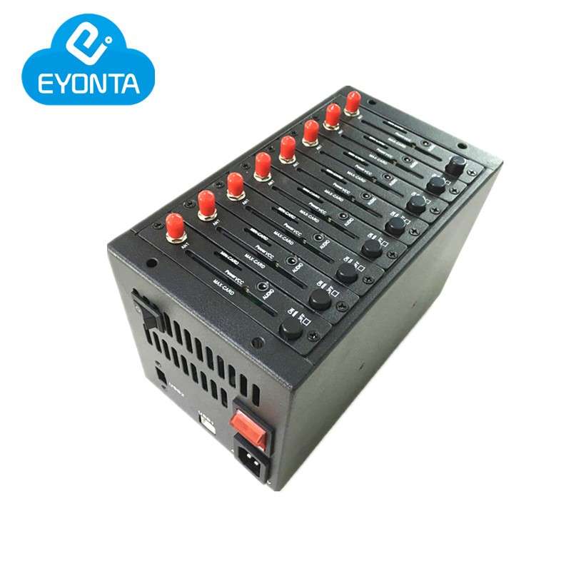 Good price 3g SIMCOM sim5320 8 port modem pool for SMS, 900/2100MHz 8 port sms 3g modem pool