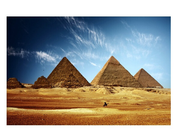 Hot Custom Egyptian Pyramids Modern Stylish Home Decor Fashion Poster Bedroom Size 50x76cm Wall Sticker Free Shipping U03 44