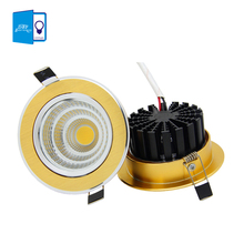 [DBF] Luxury Gold Downlight 6W/9W/12W/15W Recessed LED Spot Light Ceiling Lamp Ultra gorgeous Dimmable LED COB Downlight