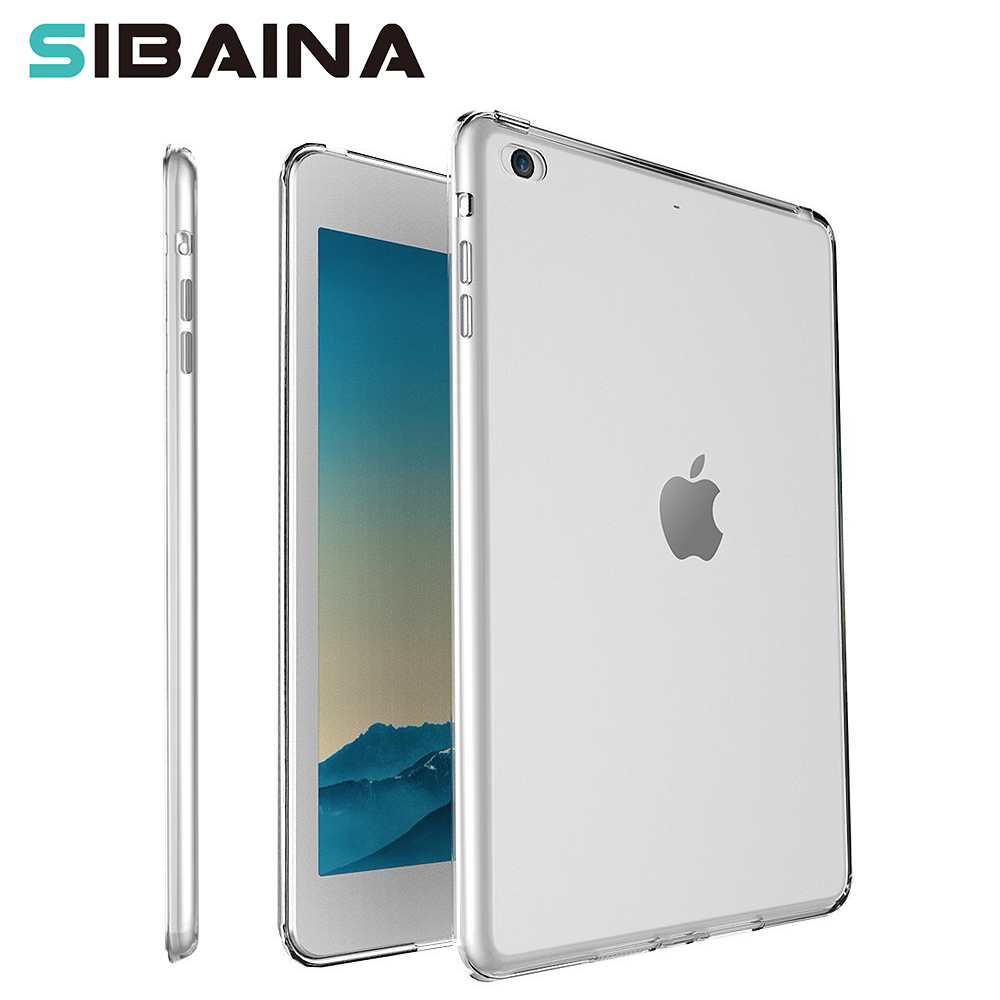 Clear Transparent Silicon TPU Case For iPad Mini 2 3 4 Cover Case For iPad Air 2 Case Slim Tablet Cover For Apple iPad pro 10.5 for ipad mini4 cover high quality soft tpu rubber back case for ipad mini 4 silicone back cover semi transparent case shell skin