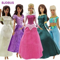 5 Pcs Lot Fairy Tale Outfit Fashion Dress Mixed Style Princess Party Gown Skirt Clothes For