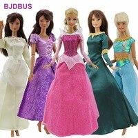 5 Adet/grup Masal Kıyafet Moda Elbise Karışık Tarzı prenses Parti Kıyafeti Etek Barbie bebek Için Giysi Aksesuarları Hediye Oyuncak