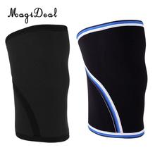 1 Pair Knee Brace Support Heavy Duty 7mm Neoprene Sport Compression Sleeve for Weightlifting, Powerlifting & Cross Training
