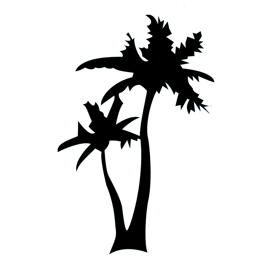 Coconut Tree Waterproof Temporary Tattoo Sticker Fake Tattoo Body Art Beauty The Flash Tatuagem Tatoos Temporarles For Women