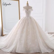 Luxuriöse Stickerei Tüll Liebsten Ballkleid Hochzeit Kleid Appliques Perlen Perlen Weg Von Der Schulter Vintage Braut Kleider