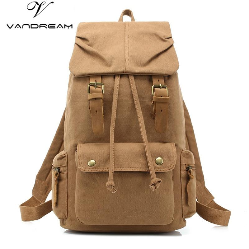 Unisex Women Man's Canvas Backpack Travel Schoolbag Male Backpack Men Large Capacity Rucksack Fashion Retro Shoulder School Bag