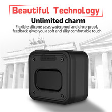 Portable Speaker Bluetooth Column Outdoor IPX7 Waterproof Portable Column Subwoofer Bass Stereo Music Player with Power Bank Box bluetooth speaker nillkin 2 in 1 phone charger power bank music box speaker portable multi color led light lamp outdoor bedroom