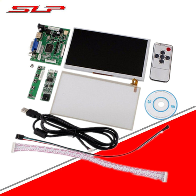 skylarpu For INNOLUX Raspberry Pi LCD Touch Screen Display TFT Monitor AT070TN90 +Touchscreen Kit HDMI VGA Input Driver Board skylarpu 7 inch raspberry pi lcd screen tft monitor for at070tn90 with hdmi vga input driver board controller without touch