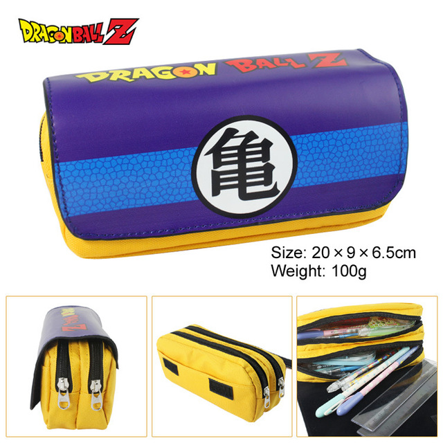 Siete dragon ball bag purse siete dragón palabra tortuga Wu palabra bolsa multifuncional de gran capacidad de doble cremallera cartera