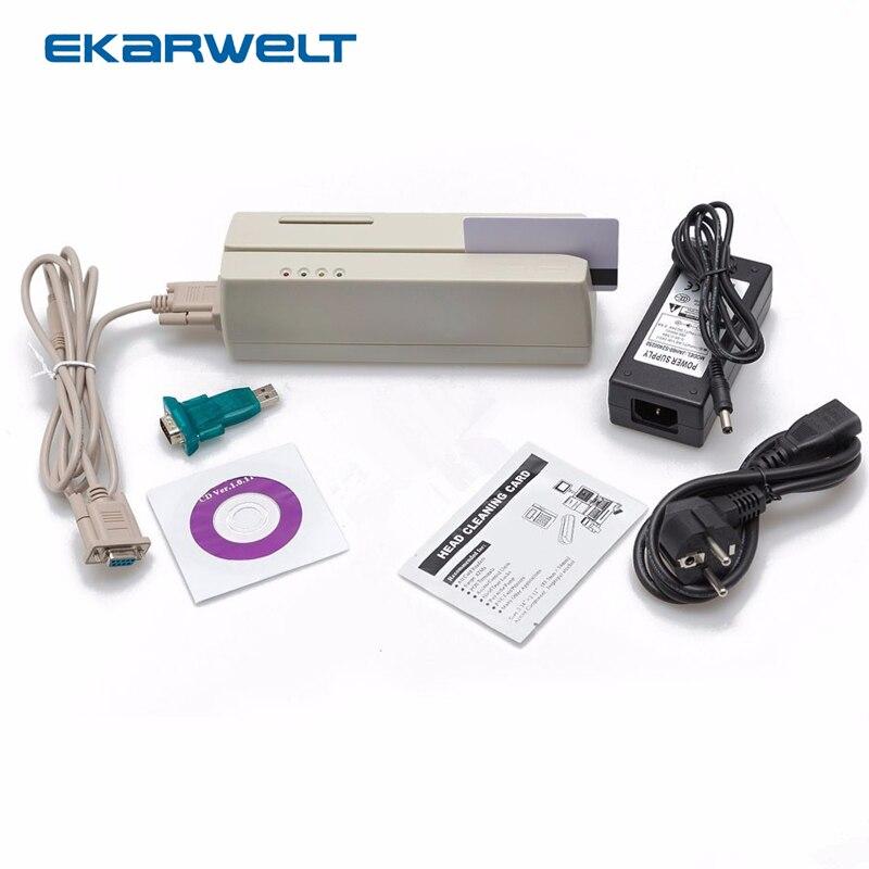 MCR200 lecteur/graveur de carte à puce à bande magnétique EMV Smart IC avec SDK pour Loco HiCo Track 1 2 3