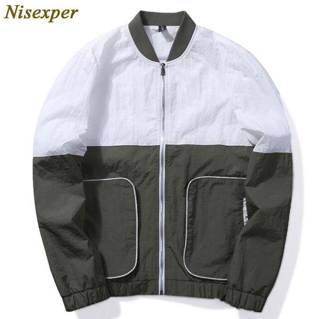 7039567cc19 Новое поступление Для мужчин модные осенние куртки Повседневное тонкий Для мужчин  S ветровки черный ветровка Hommes
