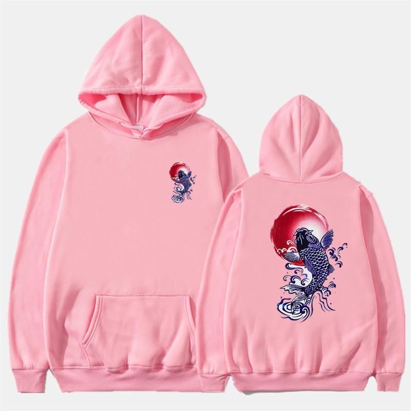 Newest Japanese Funny Cat Wave Printed Fleece Hoodies 19 Winter Japan Style Hip Hop Casual Sweatshirts KODAK Streetwear 12