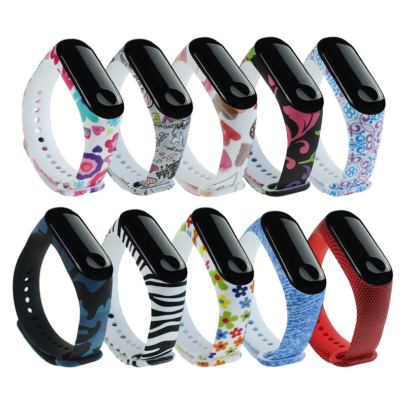 For Mi Band 3 4 Strap Wrist Strap For Xiaomi Miband 3 Silicone For Miband 3 4 Accessories Multi-color Mi 3 Replacement Strap
