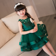 New Green Flower Girl Dresses for Wedding Knee Length Little Girl Kids/Child Dress Ball Party Birthday Pageant Communion Dress fresh pink and white flower girl dresses knee length crystals rhinestones princess pageant dress with bow 1st birthday outfit