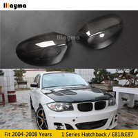 Carbon Fiber Mirror cover For BMW 1 Series Hatchback 116i 120i 130i 135i 2004 2008 year E81 E87 Car rear mirror cap stick on