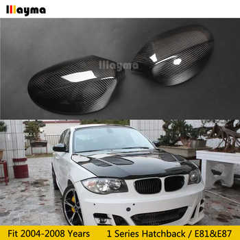 Carbon Fiber Mirror cover For BMW 1 Series Hatchback 116i 120i 130i 135i 2004-2008 year E81 E87 Car rear mirror cap stick-on - DISCOUNT ITEM  16% OFF All Category