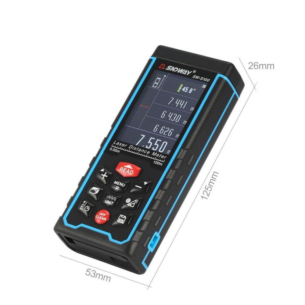 SNDWAY SW-S 100 100 M Handheld Laser-distanzmessgerät Range Finder Trena Laser Maßband Abstand Werkzeug Entfernungsmesser