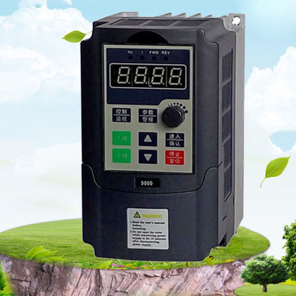 220V 1.5KW Single Phase input 220V 3 Phase Output Frequency Converter Adjustable Speed Drive Inverter Built-in Timer  Counter220V 1.5KW Single Phase input 220V 3 Phase Output Frequency Converter Adjustable Speed Drive Inverter Built-in Timer  Counter