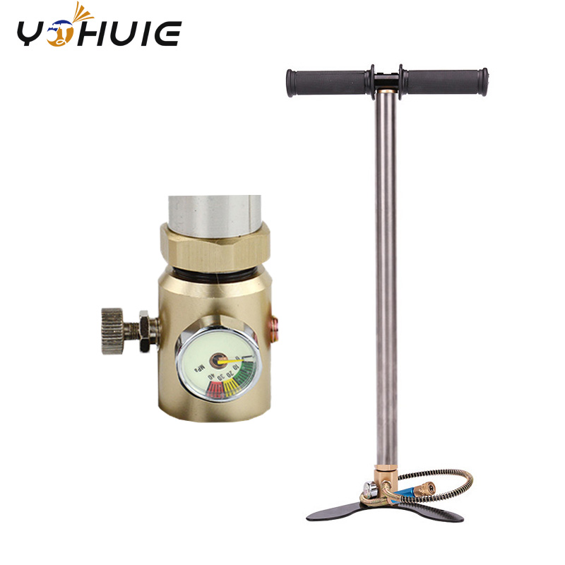 YOHUIE Professional PCP 4500PSI 300bar 30mpa High Pressure Three Stage Hand Operated Air pump Hand Car