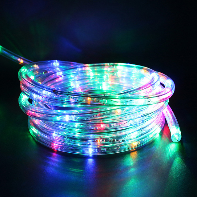 Waterproof 7M 50Leds Solar Powered LED Rope Tube Copper Wire String ...