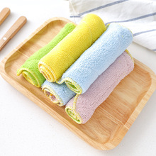5pcs/lot Super Absorbent Clean Cloth Cleaning Wiping Rag Dish Towel Home Kitchen Sink Wipe Coral fleece Towels