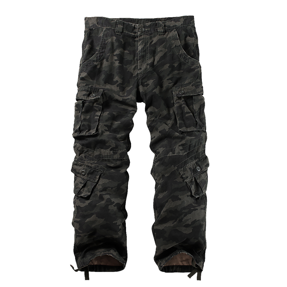 8 Pockets Men's Cotton Tactical Cargo Pants  Casual Work Combat Trousers Male Military Army Camo Cargo Pants Plus Size 40 42 44