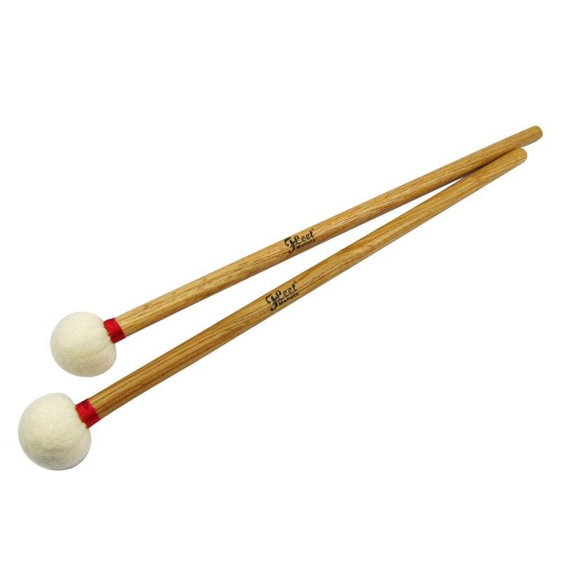 1 paire de maillets de timbale symphonie baguettes de tambour à Percussion tête en feutre souple avec manche en bois d'érable