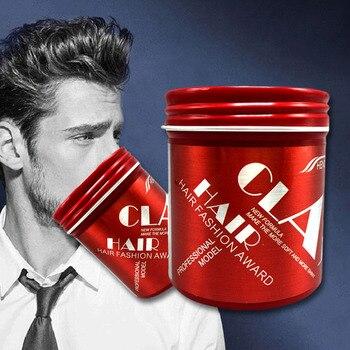Tintura de cabelo Wax Argila Estilo para Homens Fosco Creme Pomada Lama Natural Penteados Modernos OA66