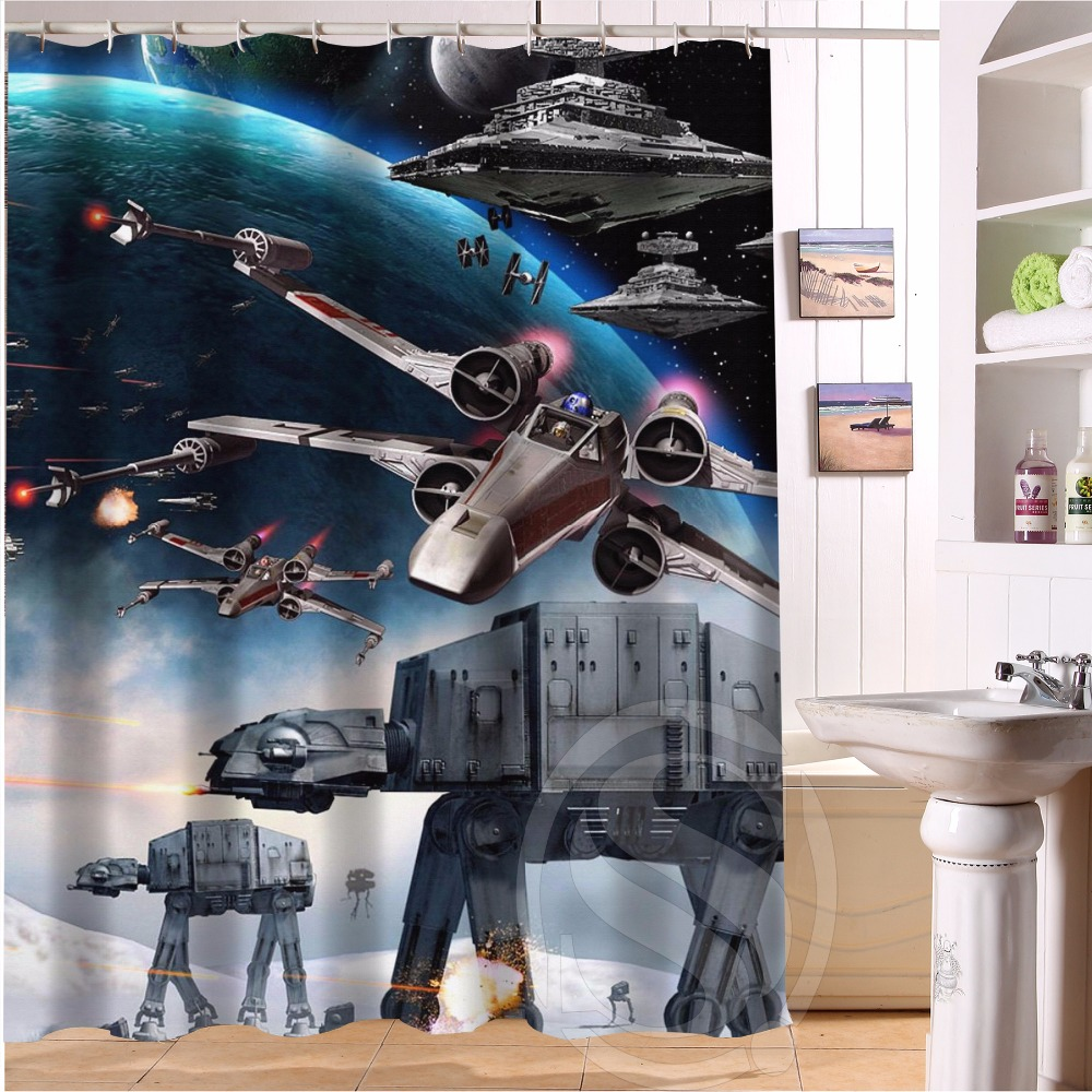 G0903 fashion Original Fabric Shower Curtain Custom Star Wars Shower Curtain Bathroom decor waterproof shower curtain ...