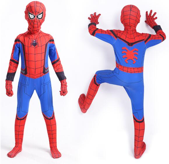 2018 NEW Child children kid Boy SPIDERMAN 3D PRINT Costume Cosplay Lycra suit Gift clothes zentai cosplay suit