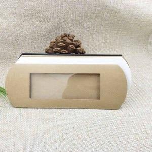 Image 3 - Lot başına 50 adet 16*7*2.4 cm beyaz/kraft/siyah yastık ambalaj kutusu şeker şekeri /hediyeler/ürünler ekran ambalaj açık pencere kutusu