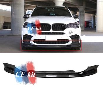CF Kit Carbon Faser 3D Stil Autos Front Lip Stoßstange Für BMW F85 F86 X5M X6M Paket Kit Bodykit Auto styling Zubehör