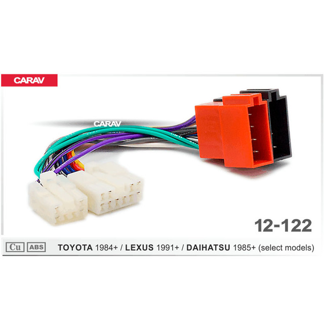 carav 12-122 iso radio adapter for toyota for lexus for daihatsu wiring  harness connector lead loom cable plug adaptor stereo