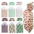 Mantas de bebé Pañales Recién Nacido 100% Toalla Envoltura Swaddle Parisarc Franela Envolvente de Algodón de Doble Capa Suave con diadema