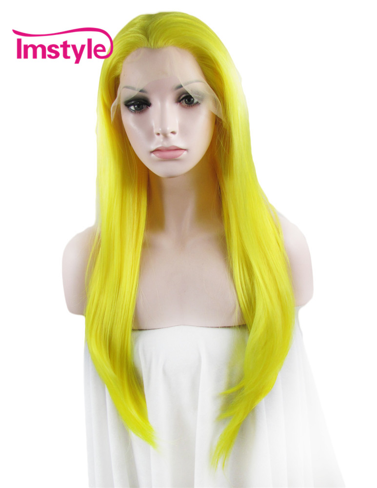 Imstyle long Straight honey blonde auburn 24 inches Heat ...