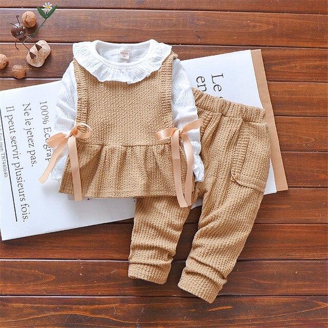 3 piezas la ropa moda niños paños para las Niñas Ropa Deportiva 2018  algodón chándal 2 324a2cec62c