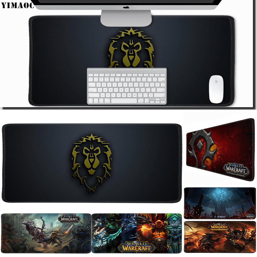 Computer Peripherals Competent Yimaoc 40*90 Cm Large Mouse Pad Gamer Mousepad Rubber Gaming Desk Mat With Locking Edge World Of Warcraft