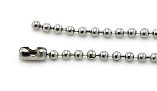 HC DIY 2mm naszyjnik łańcuch mężczyźni choker damski łańcuch ze stali nierdzewnej srebrny Punk wąż okrągłe koraliki do wisiorek 50/ 55/60cm F