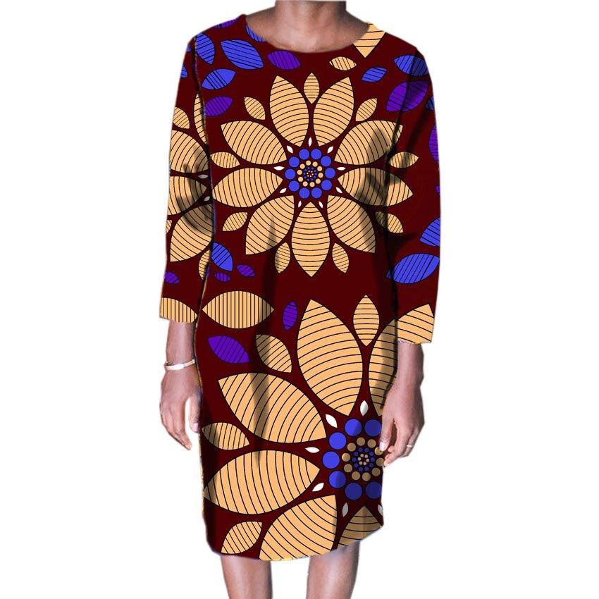 2018 Femmes Mode Africaine Imprimer Robes Des Fêtes Africain Imprimé Robes Dames Costume Fait Dashiki Femmes Vêtements Personnalisés - 6