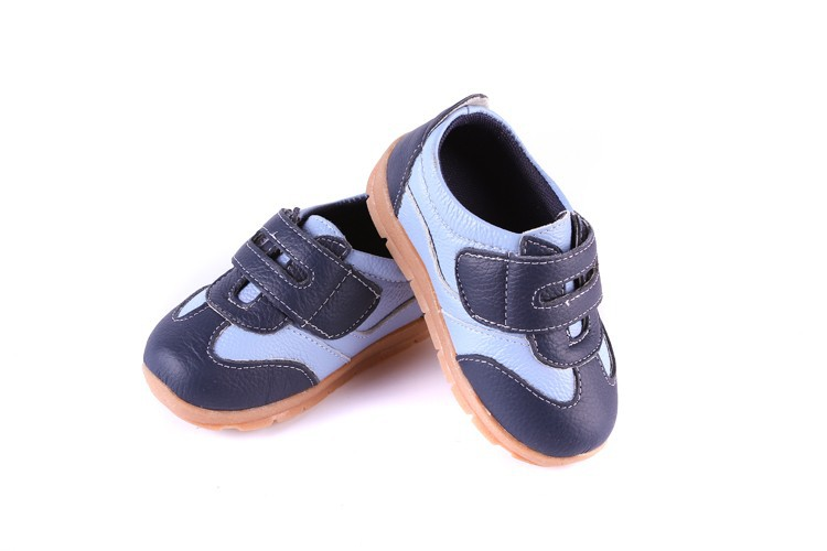 SandQ baby Boys sneakers soccers shoes girls sneakers Children leather shoes pink red black navy genuine leather flexible sole 8