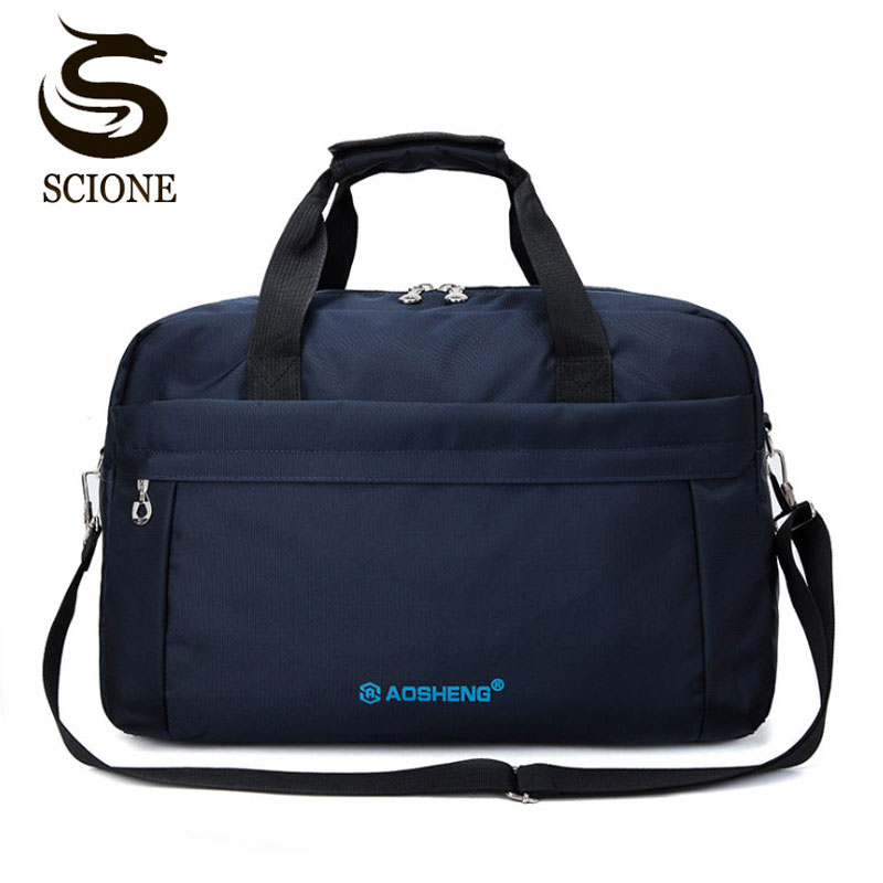 Scione Business Travel Shoulder Bags Men Waterproof Luggage Laptop Handbag Suitcase Solid Casual Sports Weekend Crossbody Bag