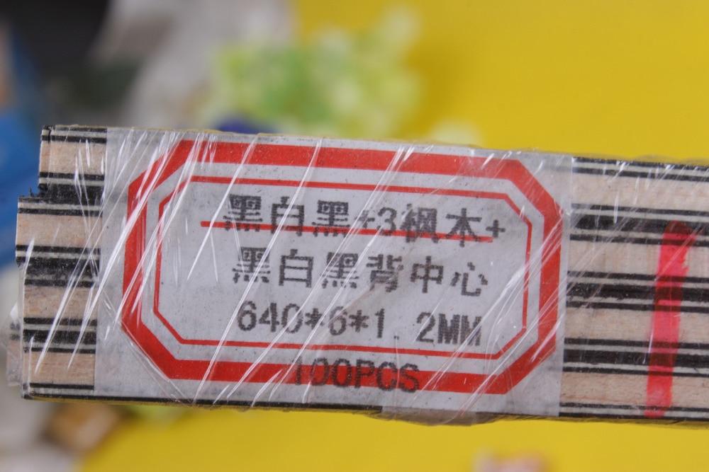 50 pásek LUTHIER PURFLING Vázání MARKETRY Vrchní strana 640x6x1.2mm # 109 černá bílá