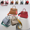 2016 высокое качество Натуральной кожи моды классический дизайн замок женская сумка сумочка crossbody сумка повседневная тотализаторов