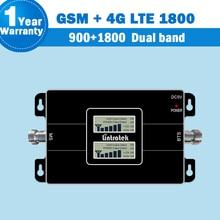 2018 Lintratek Dual Band 2G 1800 ripetitore 4g GSM 900 LTE 1800 Del Telefono Mobile 65dB Ripetitore Del Segnale 4G Amplificatore